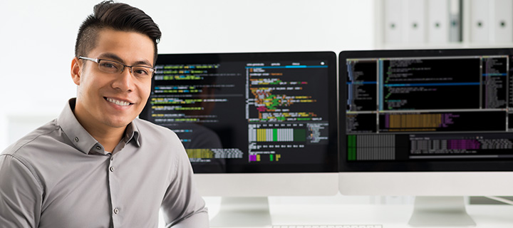 Software Engineer at workstation
